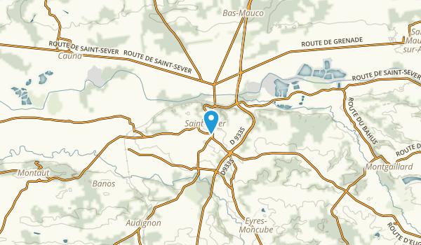 Saint-Sever, Landes Map