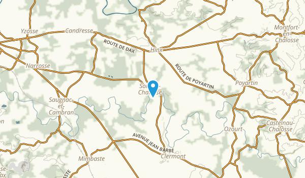 Sort-En-Chalosse, Landes Map