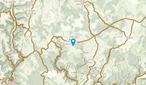 Lentillac-Du-Causse, Lot Map