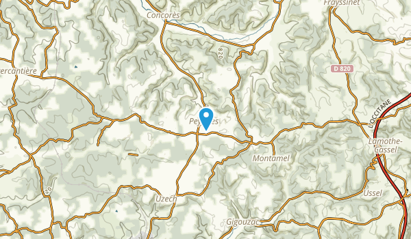 Peyrilles, Lot Map