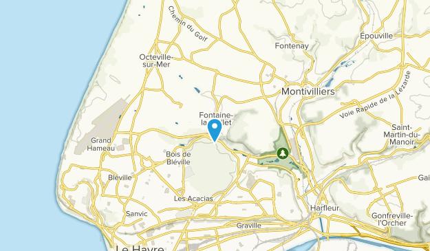 Fontaine-la-Mallet, Normandy Map