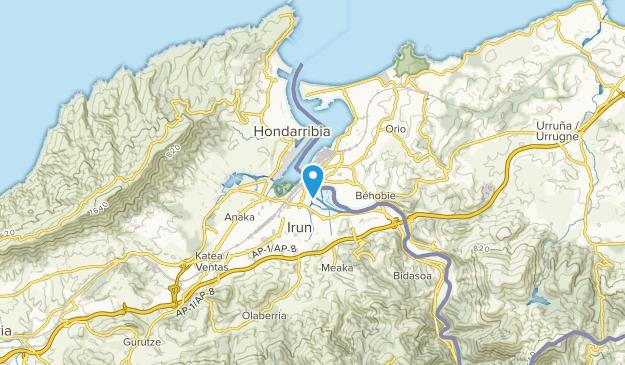 Hendaye, Nouvelle-Aquitaine Map