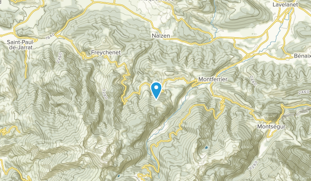 Freychenet, Occitanie Map
