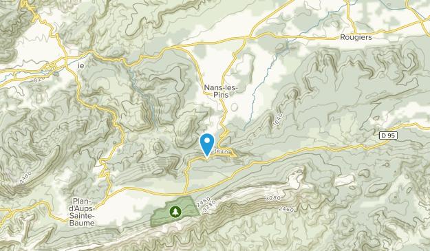 Nans-les-Pins, Provence-Alpes-Côte d'Azur Map