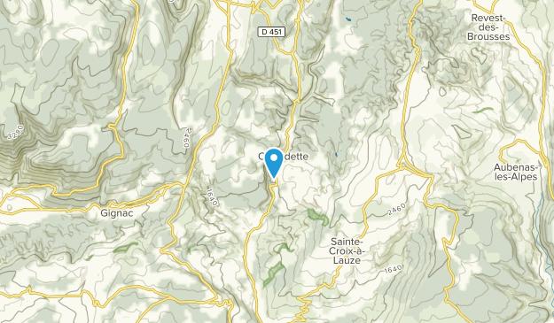 Oppedette, Provence-Alpes-Côte d'Azur Map