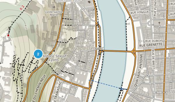 Lyon, Rhône Map