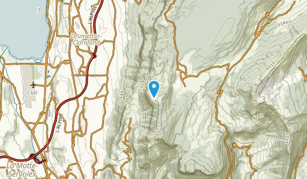 Les Deserts, Savoie Map
