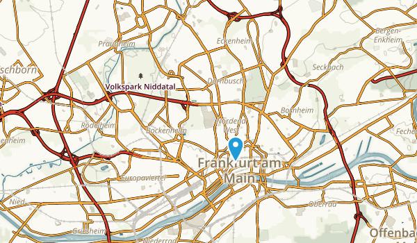 Frankfurt am Main, Hessen Map