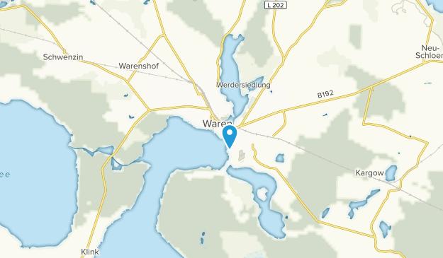 Waren (Müritz), Mecklenburg-Vorpommern Map
