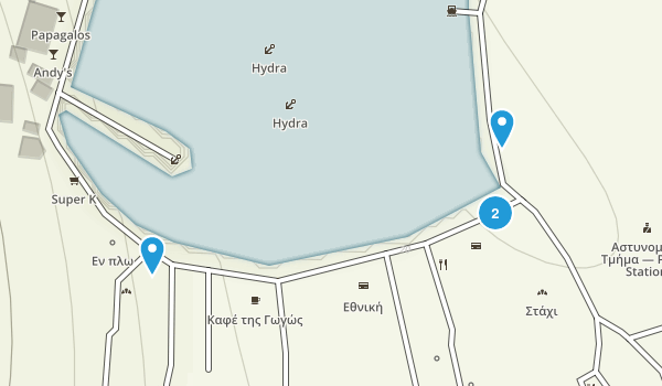 Ýdra, Attica Map