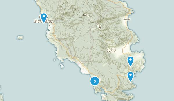 Sithonia, Central Macedonia Map