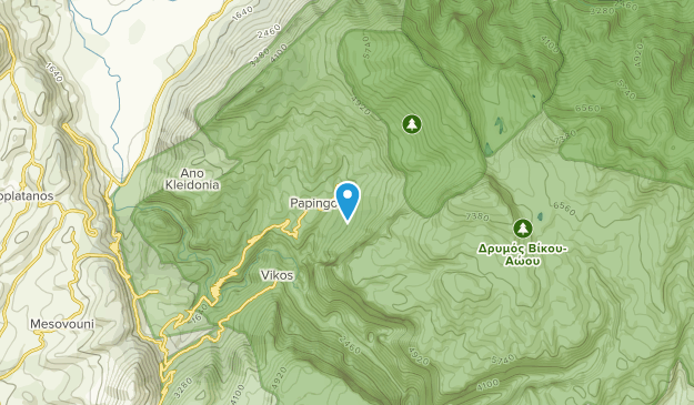 Papigo, Epirus Map