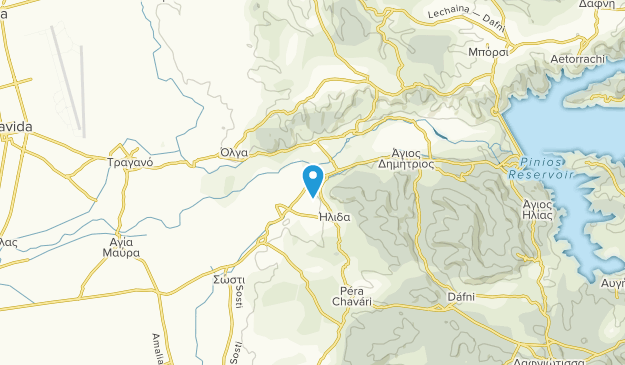 Ílis, Western Greece Map