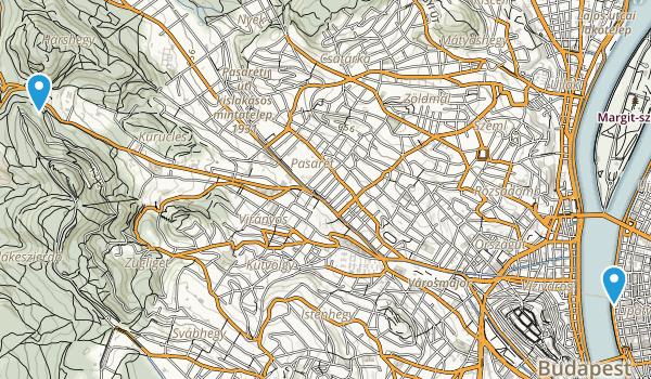 Budapest, Hungary Map