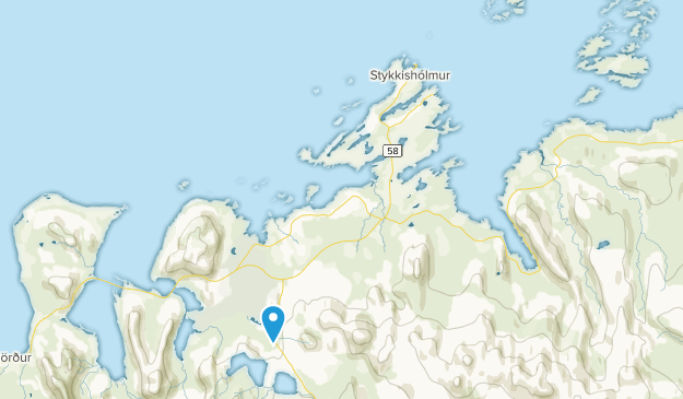 Stykkishólmur, Vesturland Map