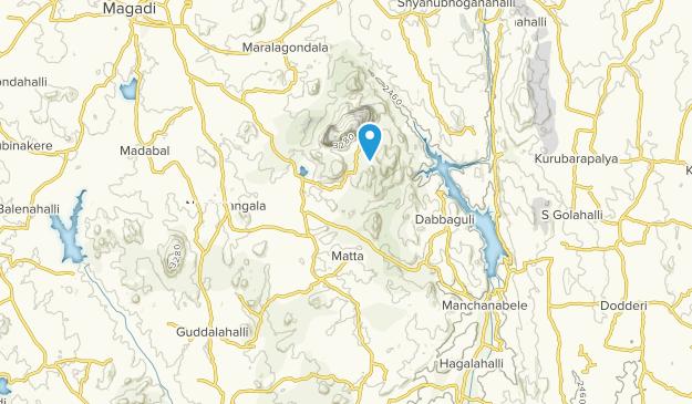 Magadi, Karnataka Map