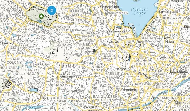 Hyderabad, Telangana Map