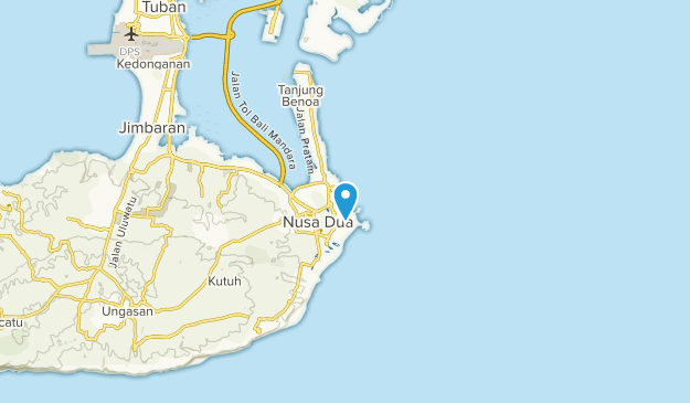 Nusa Dua, Bali Map