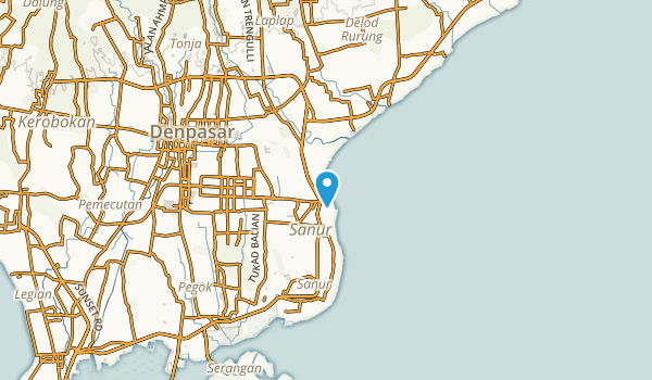 Sanur, Bali Map