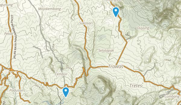 Pacet, Jawa Timur Map