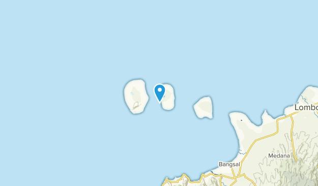 Gili Meno, Minor islands of Indonesia Map