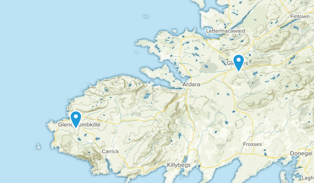 Donegal On Map Of Ireland.Best Trails Near Glenties County Donegal Ireland Alltrails