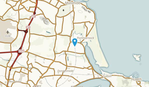 Portmarnock, Fingal Map