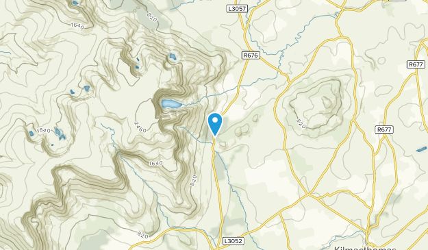 Comeragh Mountains, Waterford Map