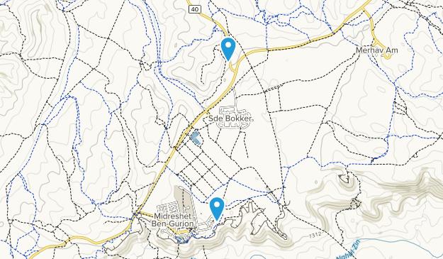 Sde Bokker, Israel Map
