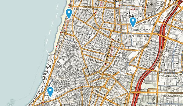 Tel Aviv, Israel Map