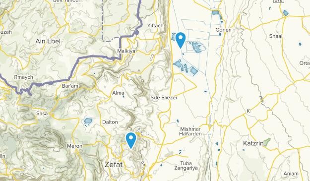 Zefat, HaZafon Map