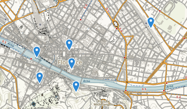 trail locations for Firenze, Italy