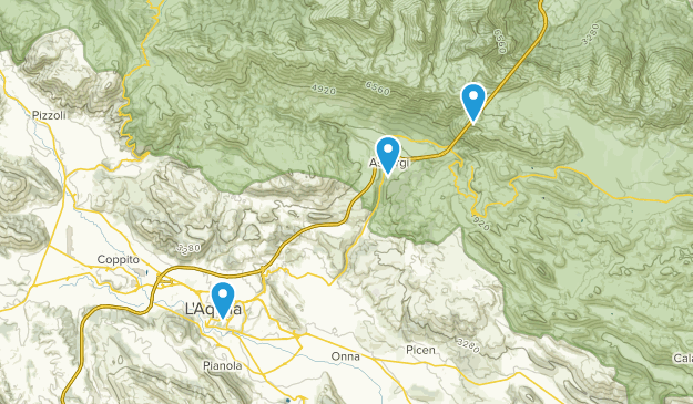 L'Aquila, Abruzzo Map