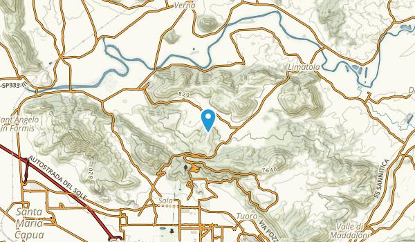 Monticello, Caserta Map