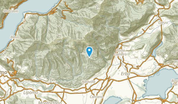 Erba, Como Map