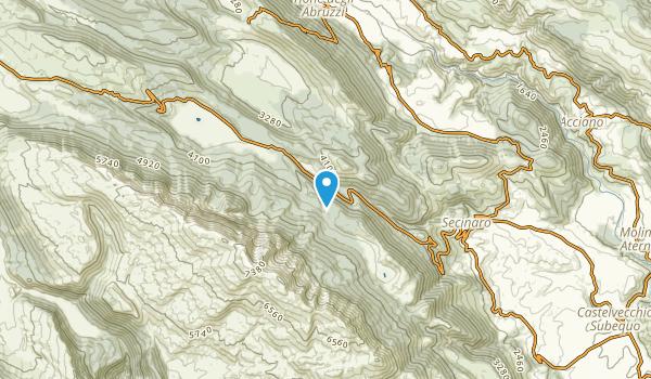 Secinaro, L'Aquila Map