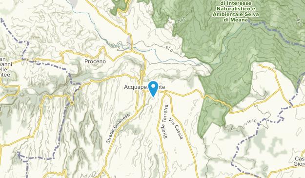 Acquapendente, Lazio Map