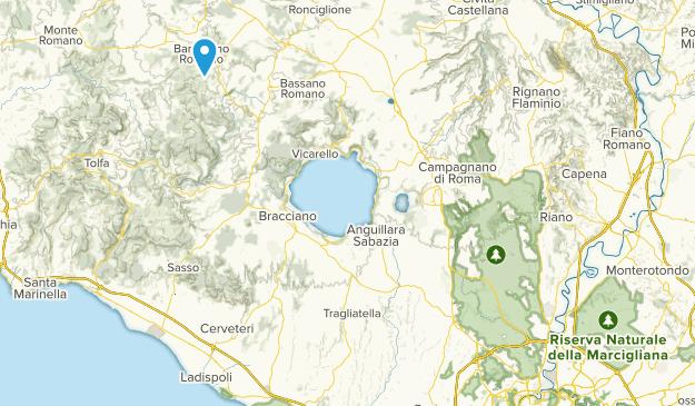 Barbarano Romano, Lazio Map