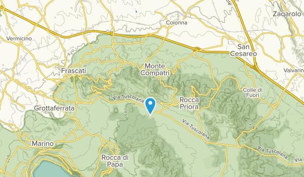 Monte Compatri, Lazio Map