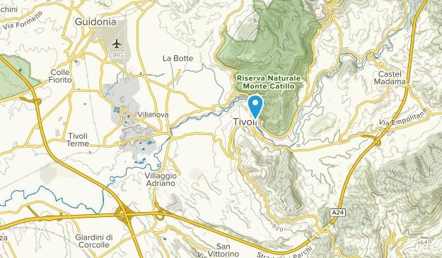 Tivoli, Lazio Map