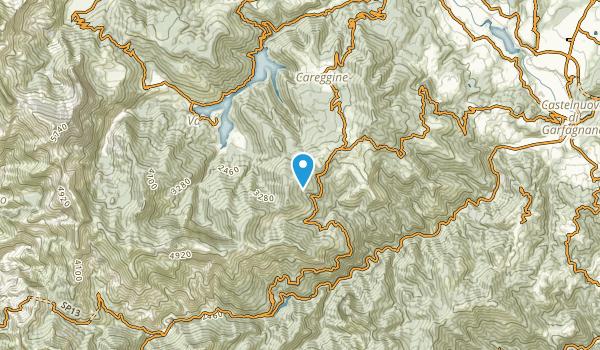 Careggine, Lucca Map