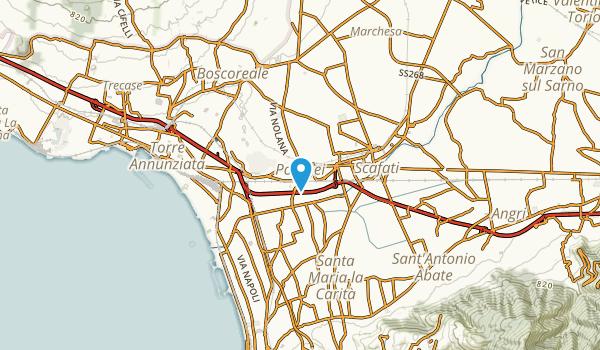 Pompei, Napoli Map
