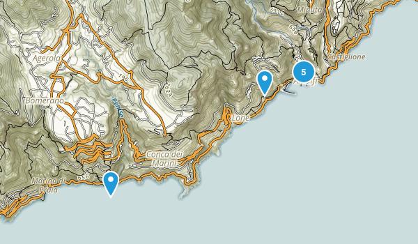 Amalfi, Salerno Map