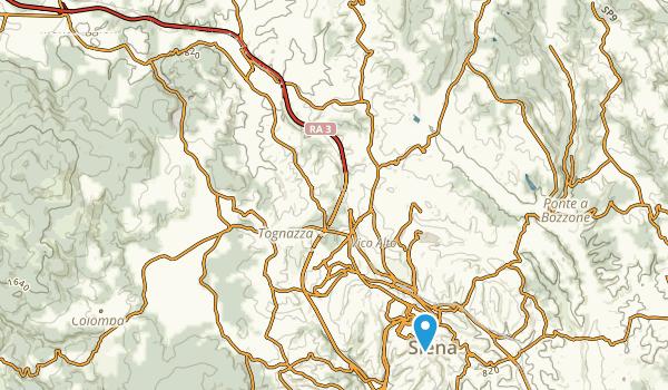 Monteriggioni, Siena Map