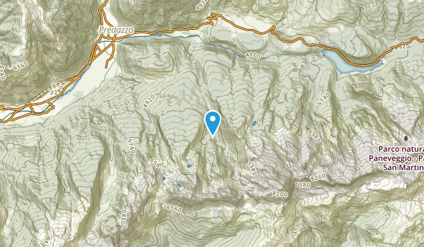 Bellamonte, Trento Map