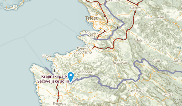 Bagnoli Superiore, Trieste Map