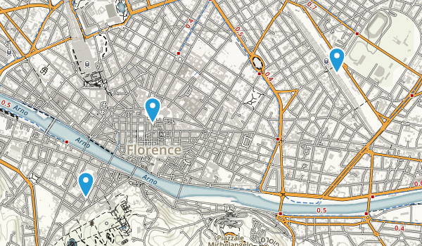 Florence, Tuscany Map