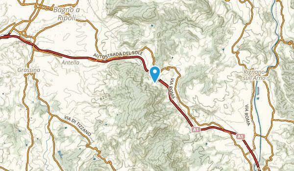 San Donato in Collina, Tuscany Map