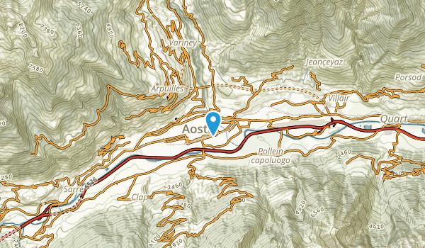 Aosta, Valle D'Aosta Map