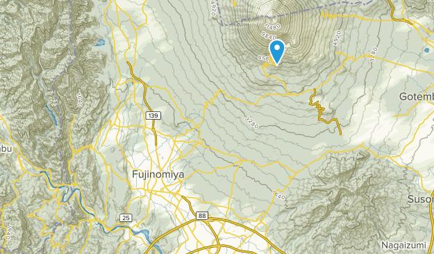 富士宮市, 静岡県 Map